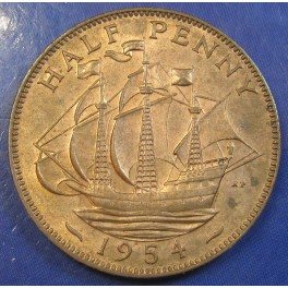 1954 ½d Elizabeth II Halfpenny in an extremely high grade