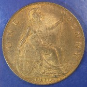 1910 1d Edward VII Penny in a high grade